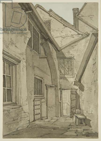 Giants' Castle' (so called after Patrick O'Brien), east side Temple Street (pencil & w/c on paper)