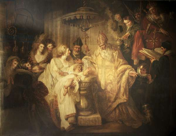 The Baptism of Henry VIII, 1491, 1794 (oil on canvas)