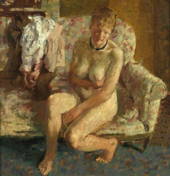 On the Sofa, 1948 (oil on board)
