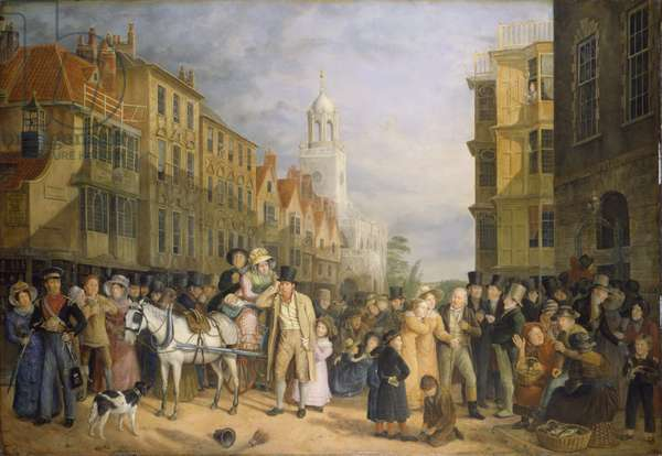 The Stoppage of the Bank, c.1827 (oil on panel)