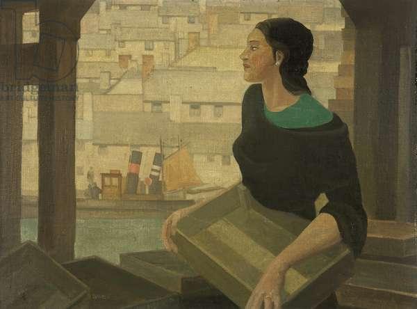 Cornish Fisher Girl, c.1932 (oil on canvas board)