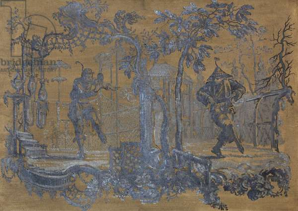 Chinoiserie (oil on canvas)
