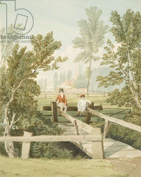 Two Boys on a Stile at Brislington Brook, c.1824