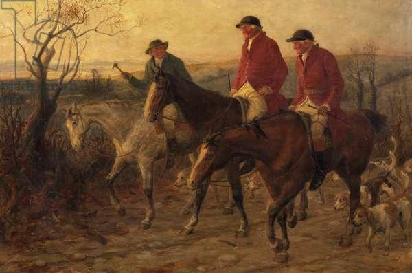 Three Jolly Huntsmen, 1878 (oil on canvas)