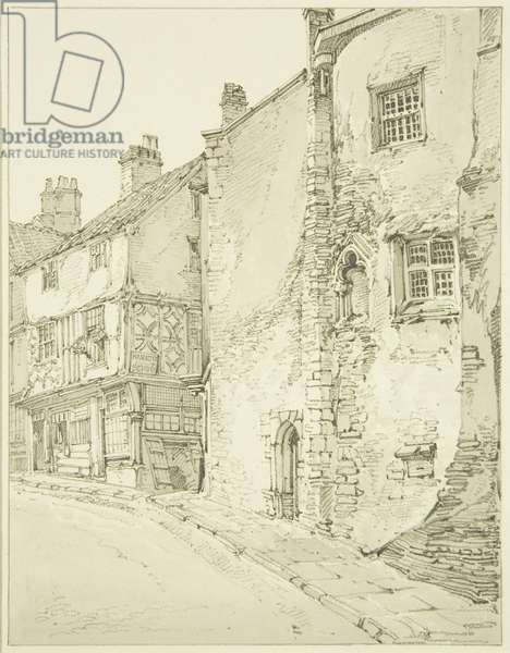 Part of Newgate looking up Bear Lane (pencil on paper)