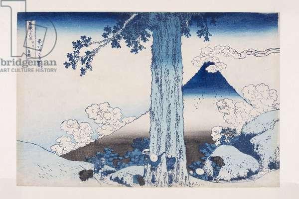 Mishima Pass in Kai Province (Koshu Mishima-goe) (colour woodblock print)