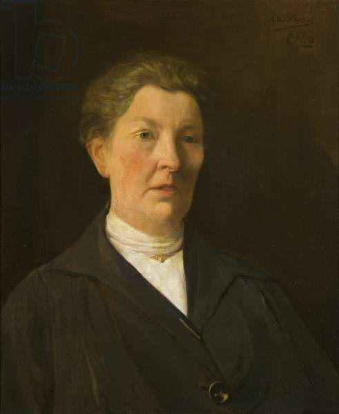 Portrait of Mrs Annie Sullivan, long-serving employee of the Wills company, 1923 (oil on canvas)