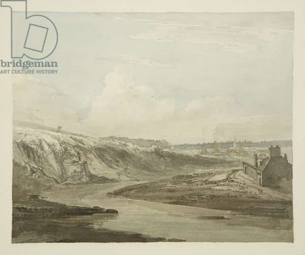 Totterdown, looking towards Bristol, with the entrance to the head of Temple Conduit, 1821 (pencil & w/c on paper)