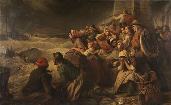The Life-Boat Going to the Rescue, 1861 (oil on canvas)