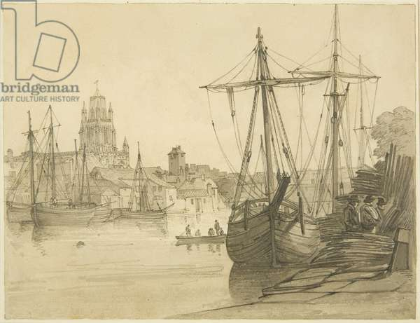 Redcliffe Back, 1822 (pencil & w/c on paper)