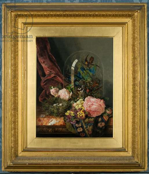 Roses and Still Life (oil on canvas)