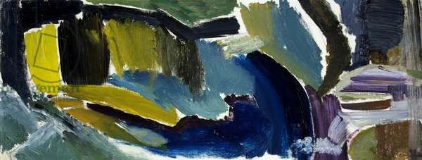 Warnford Water, Movement Left and Right, 1959 (oil on canvas)