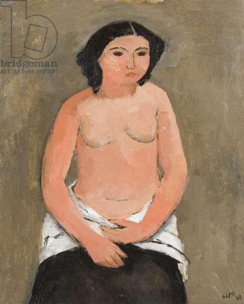 Breton Nude, 1939 (oil on canvas)