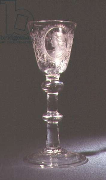 Baluster wine glass bearing portrait of Sarah Siddons (1755-1831) (glass)