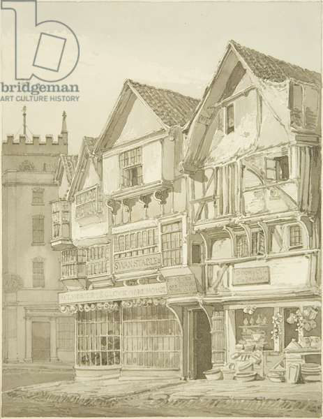Mary-le-Port Street (pencil & w/c on paper)