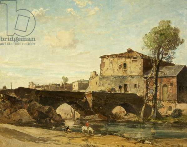 Old Mill at Avila, Spain, 1931 (oil on canvas)