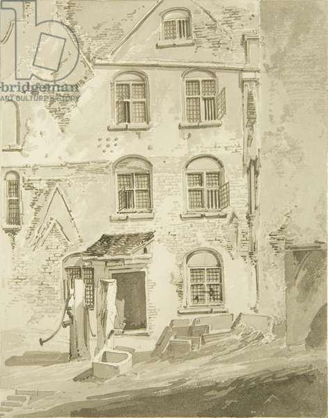 The Governor's Front, Newgate (pencil & w/c on paper)