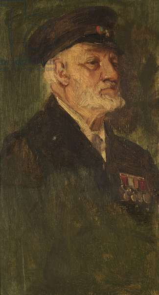 Portrait of R. H. Collins, 28th, c. 1920 (oil on panel)