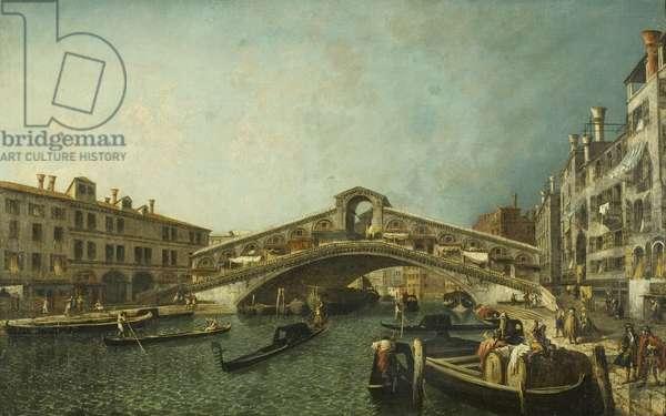 The Rialto Bridge, Venice, c.1740 (oil on canvas)