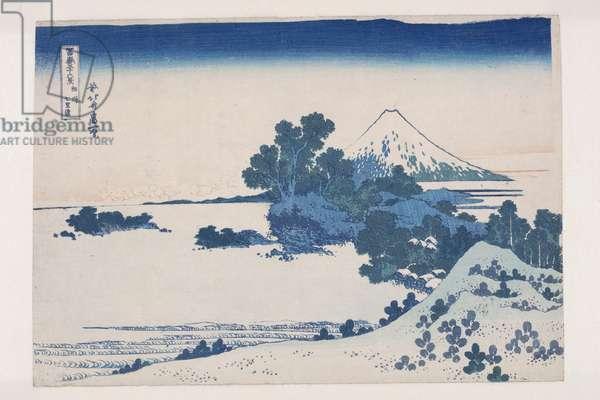 Seven-Mile Beach in Sagami Province (S?sh? Shichiri-ga-hama) (colour woodblock print)