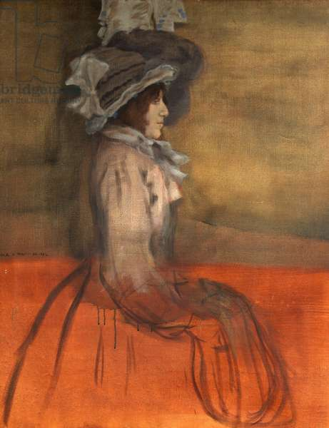 Portrait of a Lady in Hat, 1892 (oil on canvas)