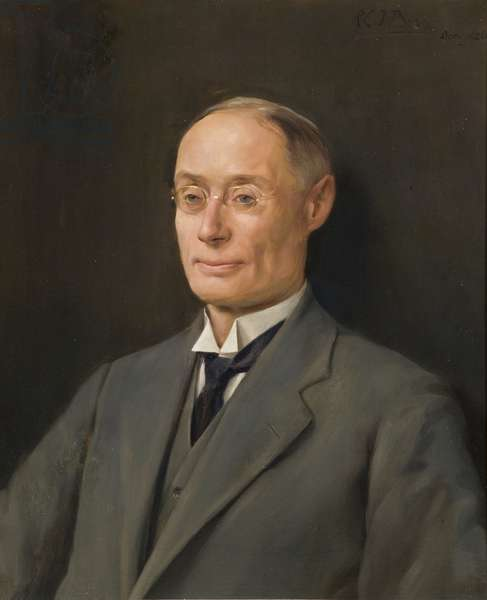 Portrait of F.H. Webb, long-serving employee of the Wills company, 1926 (oil on canvas)