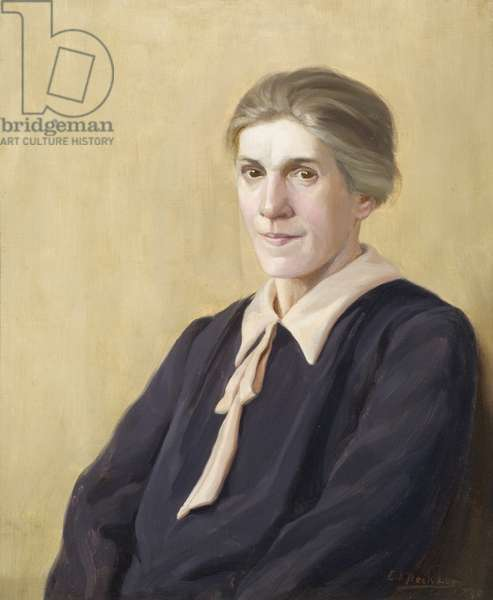 Portrait of Miss C. Hayes, long-serving employee of the Wills company, 1925 (oil on canvas)