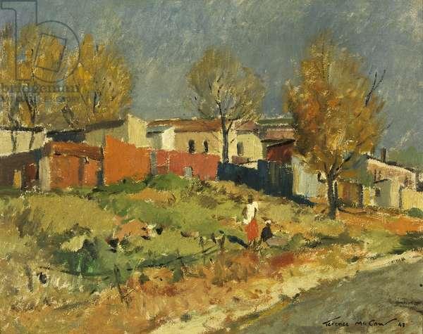 Doornfontein, near Johannesburg, 1943 (oil on canvas)