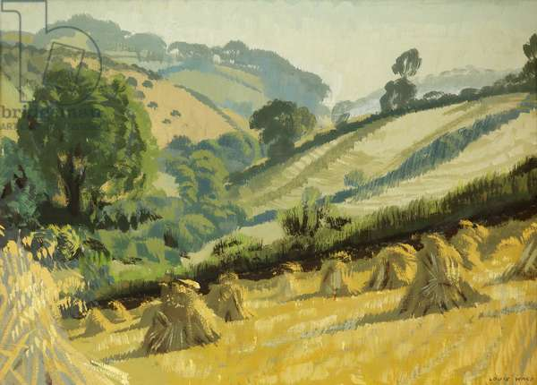 Landscape with Cornfield, 1955 (oil on card)