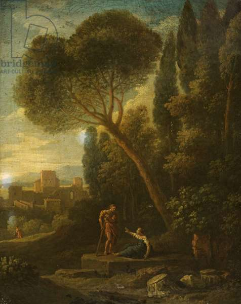 Classical Landscape with Figures, 1701-1800 (oil on canvas)