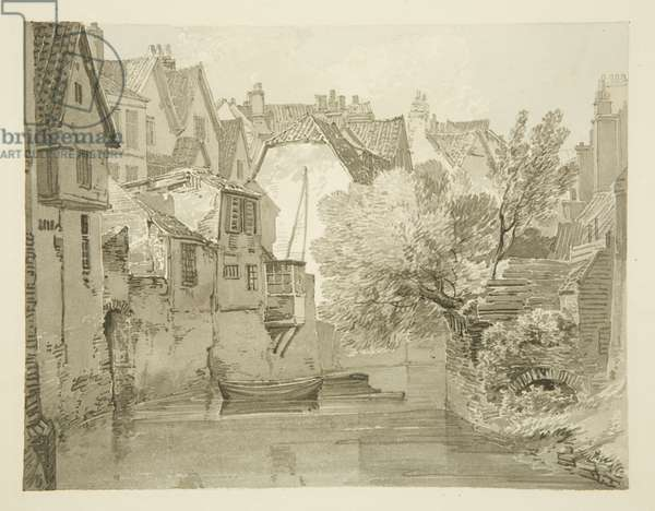 House on City Wall at the back of Lewin's Mead, 1820 (pencil & w/c on paper)