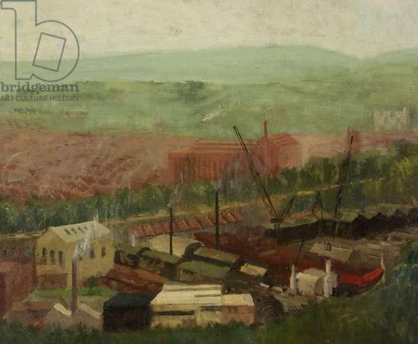Bristol from Brandon Hill (oil on canvas)