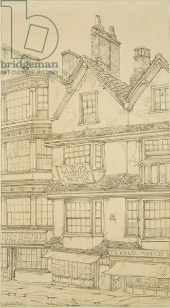 48 Corn Street, 1823 (pencil on paper)