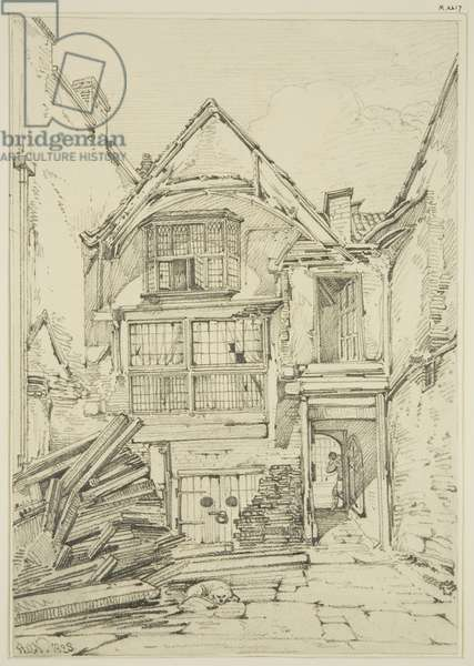Back of house in Baldwin Street (pencil on paper)