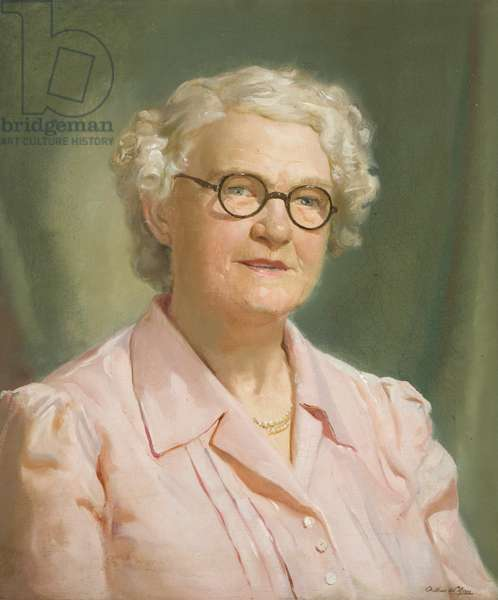 Portrait of Miss Ellen Williams, long-serving employee of the Wills company, c.1946-52 (oil on canvas)