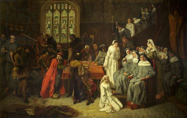 The Visitation and Surrender of Syon Nunnery, c.1846 (oil on canvas)