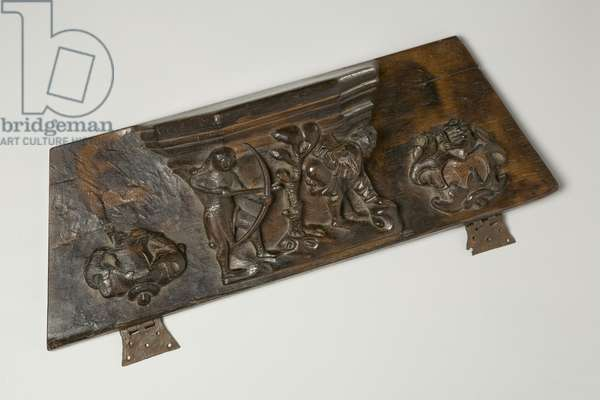 A Misericord depicting 'The Romance of Reynard the Fox', 1520 (wood)