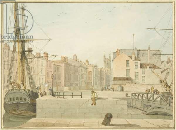 View of Prince Street, Bristol, 1826 (w/c on paper)