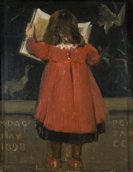 Portrait of the Artist's daughter, Alethea Garstin, 1898 (oil on canvas)