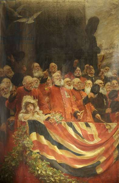 The Old Guards Cheer, 1898 (oil on canvas)
