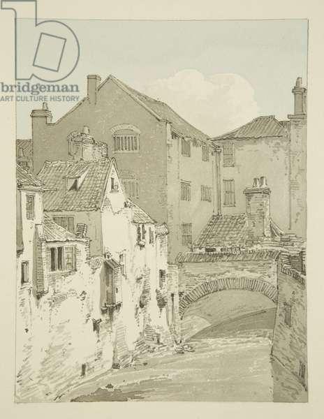 Back of Philadelphia Bridge (second bridge from the Ropewalk), 1821 (pencil & w/c on paper)