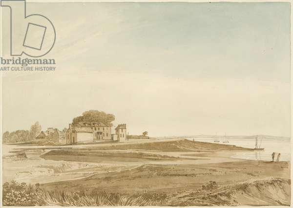 New Passage House on the Severn, 1823 (pencil & w/c on paper)