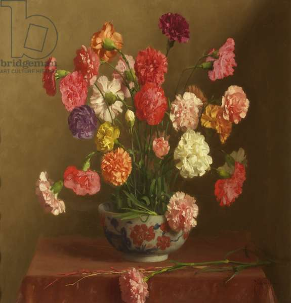 Carnations, c.1929 (oil on canvas)