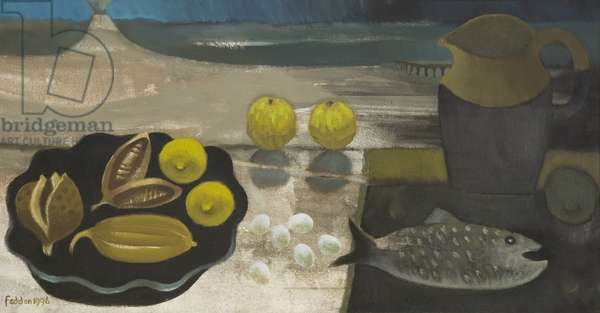 Seed Pods and Volcano, 1996 (oil on canvas)