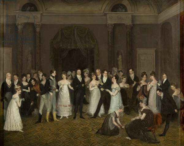 The Cloakroom, Clifton Assembly Rooms (oil on canvas)