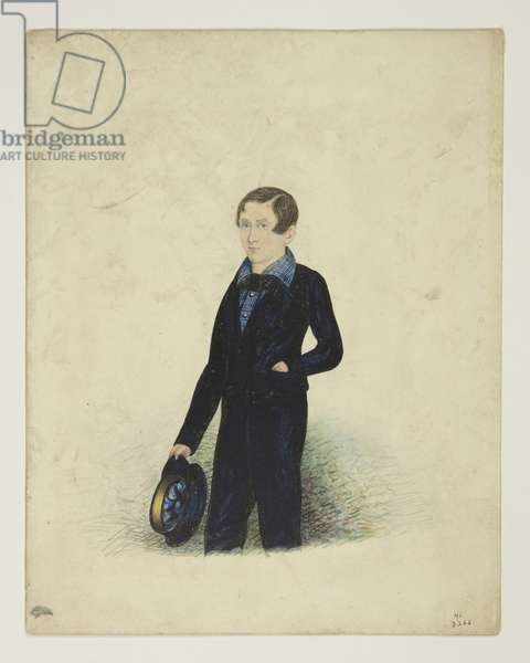 Portrait of a Youth, 1844 (w/c on paper) (see also 3506799)
