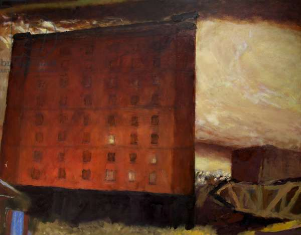 Bond Warehouses I, 1986-87 (oil on canvas)