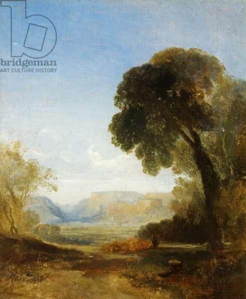 Clifton from Ashton Fields (oil on canvas)