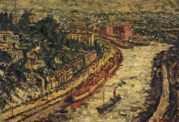 View of Bristol from the Suspension Bridge, c.1945 (oil on canvas)