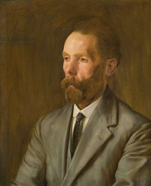 Portrait of S. Blackmore, long-serving employee of the Wills company, 1921 (oil on canvas)